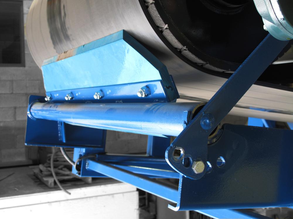 Industrial conveyor belt scrapers